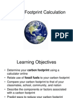 Lab 11 - Carbon Footprint Calculation Fall 2014