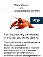 Lab 10 - Water Quality and Macroinvertebrate Diversity Fall 2014