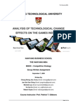 Analysis of Technological Change Effects on the Games Industry