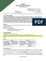 syllabus-algebra i 2014-15 mthompson