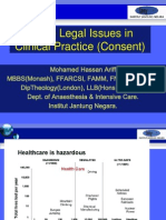 Legal (Consent) Issues in Clinical Practice