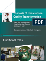 Clinicians and Quality Transformation