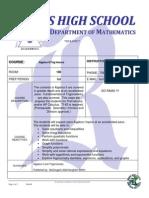 algebra ii trig honors syllabus