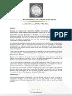 """03-12-2009 Guillermo Padrés en conferencia de prensa anunció un incremento en el número de beneficiados del programa """"Oportunidades"""". B120906"""