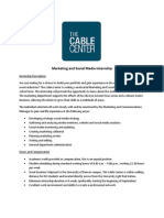 The Cable Center_Mktg/Social Media