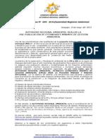 BOLETIN DE PRENSA 005 - 2014 - Estándares de calidad ambiental.doc