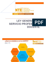 Ley General Del Servicio Profesional Docente. FINAL. SNTE.2014