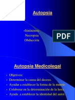 Autopsia. Medicina Legal 2011