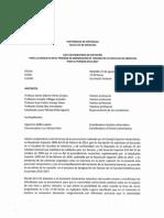 Acta escrutinio Consulta para designación de decano en la Facultad de Medicina 2014