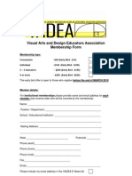 Vadea Membership Form for 2010[1][1]