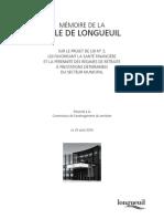 Memoire de la Ville de Longueuil