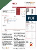 Access 2013 Cheat Sheet