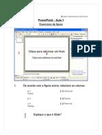 PowerPoint Aula 1 Ex1