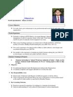 CV Ravi Bhushan Lal CV
