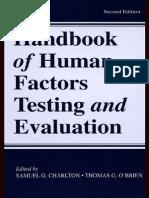 Handbook of Human Factors Testing and Evaluation Copia