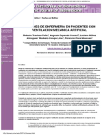 Acciones de Enfermeria en Pacientes Con Ventilacion Mecanica Artificial