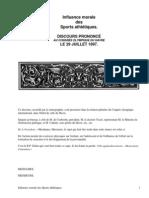 Influence morale des sports athlétiquesDiscours Prononcé au Congrès Olympique du Havre, Le 29 Juillet 1897. by Didon, Henri, 1840-1900