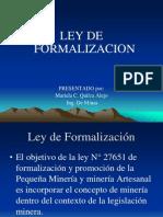 Ley de Formalización
