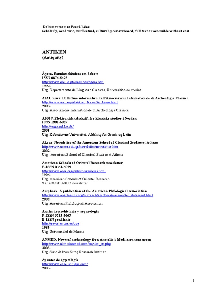 8999 open access journals new expanded list december 2009 8999 open access journals new expanded list december 2009 archaeology museology fandeluxe Choice Image