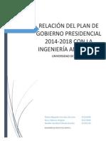 Ing Proyectos - Estudio de Plan de Gobierno