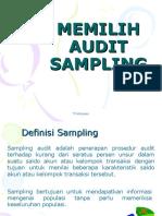 Memilih Audit Sampling