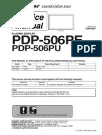 Pioneer Pdp-506pe_pu Arp3267 Plasma Tv Sm