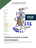 Cadena de Valor de La Planta NAVICO Ensenada