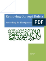 Removing Corrupt Rulers According to the Quran and Sunah