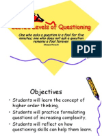 levels of questioning powerpoint