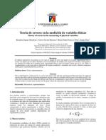 Teoría de errores en la medición de variables físicas. INFORME _1 DE FÍSICA.