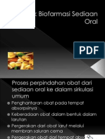 Aspek Biofarmasi Sediaan Oral