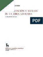 Kayser, Wolfgan - Interpretacion y Analisis de La Obra Literaria