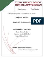 Reporte de Ma Quinaria de Excabacion