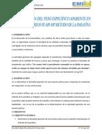 Determinacion Del Peso Especifico Aparente en Materiales Pétreos Metodo de La Parafina