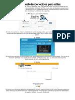 10 Sitios Web Desconocidos Pero Utiles