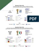 Mundiales de 1930 Al 2014 Toda La Informacion