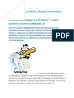 Servicios Innecesarios Window 7