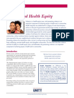 Fact Sheet--Links Between Violence and Health Equity