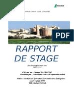Rapport de Stage de Mouna Bouroumi