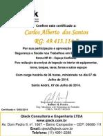 Carlos Alberto Dos Santos Nr33 Rec.