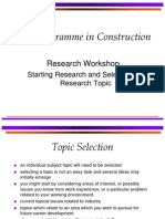 Starting Research and Selecting a Research Topic 2