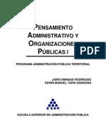 1 Pensamiento Administrativo y Organizaciones Publicas i