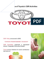 Csr of Toyota