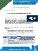 Actividad de Aprendizaje Unidad 3 Requisitos e Interpretación de La Norma ISO 90012008 (Reparado)