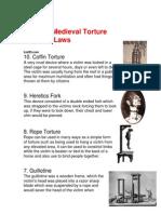 top ten medieval torture methods