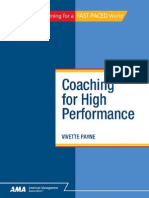 Coaching for High Performance [0761214615]