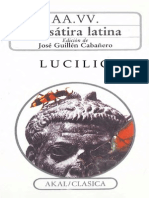 Lucilio Cayo La Satira Latina Satiras