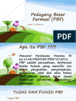 Pedagang Besar Farmasi (PBF) Power Point