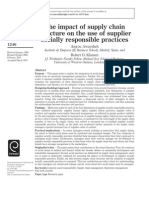 The Impact of Supply Chain Structure on the Use of Supplier Socially Responsible Practices