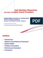 Optimal Virtual Machine Placement Across Multiple Cloud Providers